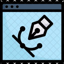 Website Design Colored Outline Icon