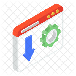 Website Download Isometric Icon