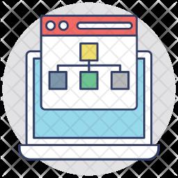 Website Hierarchy Icon