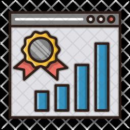 Website ranking Icon