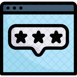 Website Rating Colored Outline Icon