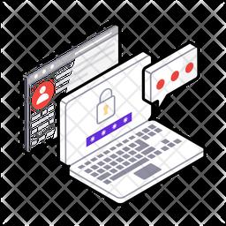 Website Safety Isometric Icon