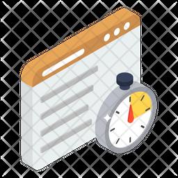 Website Speed Test Isometric Icon
