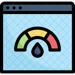 Website Speedometer Colored Outline Icon