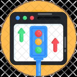 Website Traffic Flow Icon