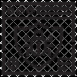 Website Virus Line Icon
