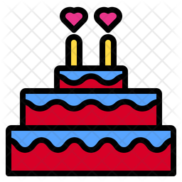 Wedding Cake Icon Of Colored Outline Style Available In Svg Png Eps Ai Icon Fonts