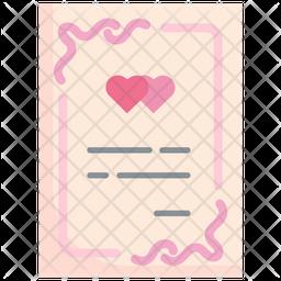 Wedding Card Flat Icon