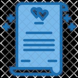 Wedding contract Icon