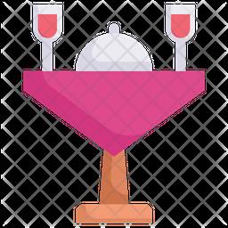 Wedding Dinner Flat Icon