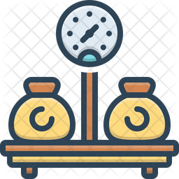 Weight Colored Outline Icon