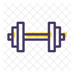 Weightlifting Colored Outline Icon