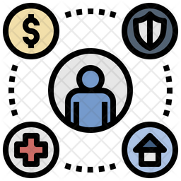 Welfare Colored Outline Icon