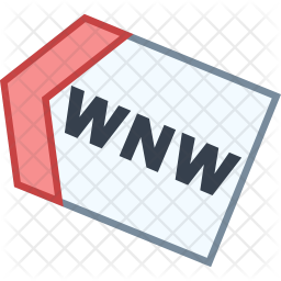 West north west direction Icon