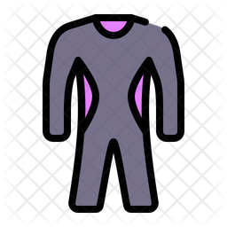 Wet Suit Colored Outline Icon