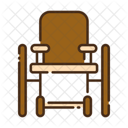 Wheel chair Colored Outline Icon