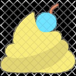 Whip Cream Flat Icon