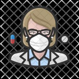 White Female Pharmacist Icon