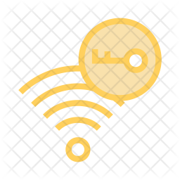 Wifi Key Colored Outline Icon