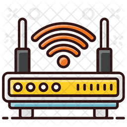 Wifi Router Colored Outline Icon