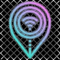 Wifi Signal Gradient Icon