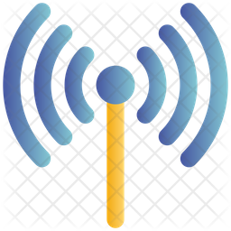 Wifi Signals Gradient Icon