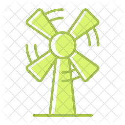 Windmill Colored Outline Icon