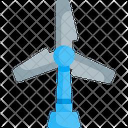 Windmill Flat Icon