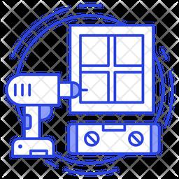 Window Installation Icon