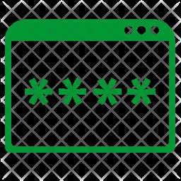 Window password Icon