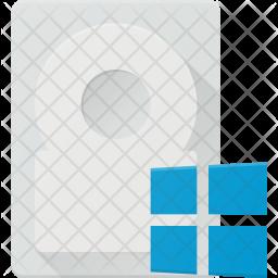 Windows harddisk Icon