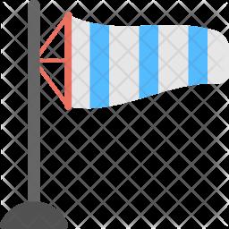 Windsock Flat Icon