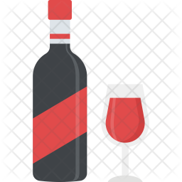 Wine Drink Flat Icon