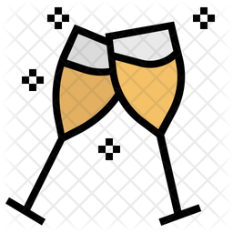 Wine Glasses Icon Of Colored Outline Style Available In Svg Png Eps Ai Icon Fonts