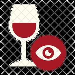 Wine Tasting Look Icon