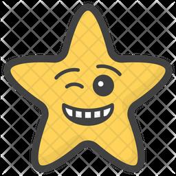 Winking Eye Star Emoji Icon