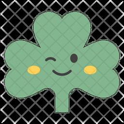 Winky Coriander Emoji Icon