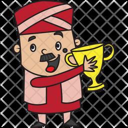 Winner Treasurer Sticker Icon