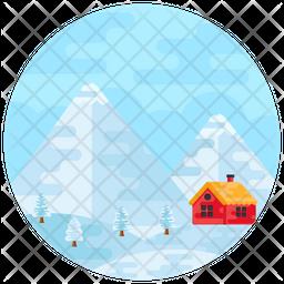 Winter Landscape Icon