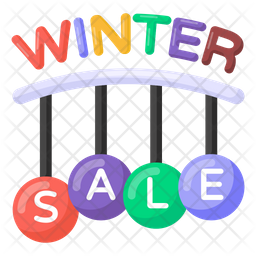 Winter Sale Coupons Flat Icon