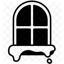 Winter Window Glyph Icon