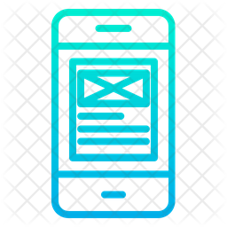 Wireframe Phone Icon