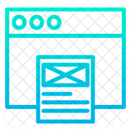 Wireframe Web Icon