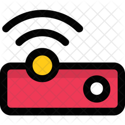 Wireless Projector Colored Outline Icon