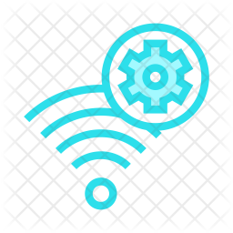 Wireless setting Colored Outline Icon