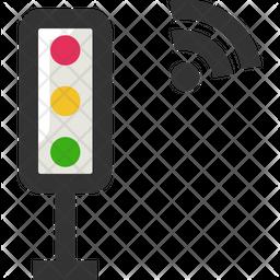 Wireless Traffic Signal Icon