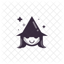 Witch, Cutewitch, Halloween Icon png