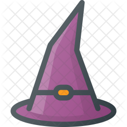 Witch hat Colored Outline Icon
