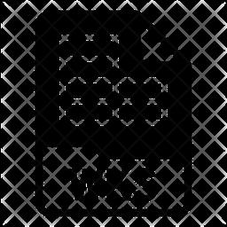 Wks file Glyph Icon
