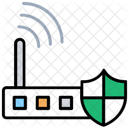 Wlan Security Colored Outline Icon